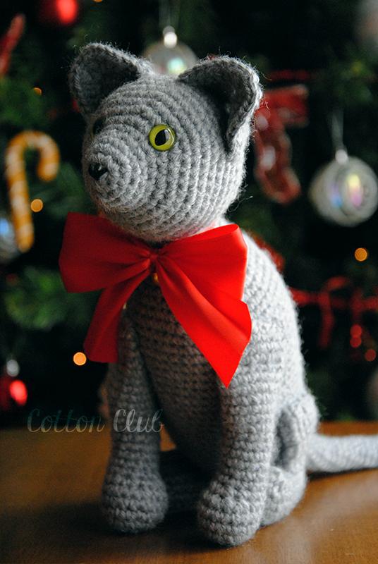 Cotton Club: Amigurumi, gatto grigio
