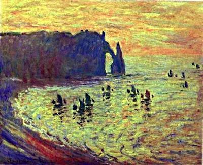 Esculls en Étretat (Oscar-Claude Monet)