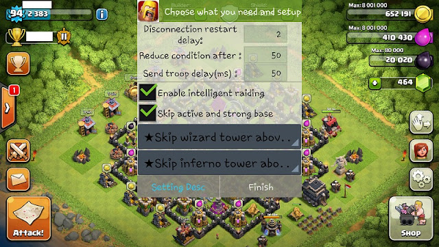 BOT Clash of Clans Auto All Android