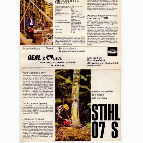 Vintage Stihl Chainsaw - Motosierra Stihl Antigua