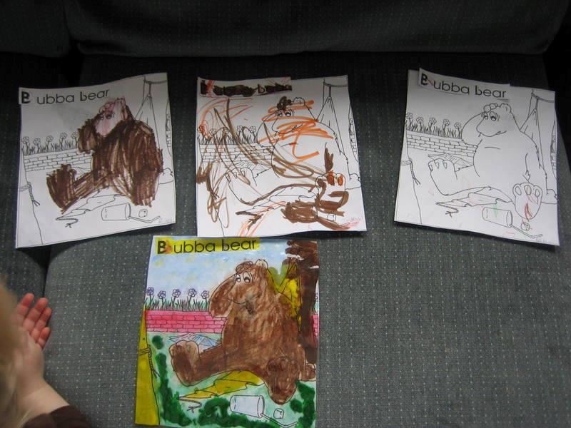Bubba Bear Coloring Sheets