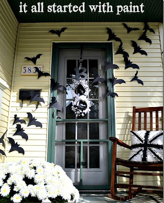 Bats on the Door (Halloween Decor)