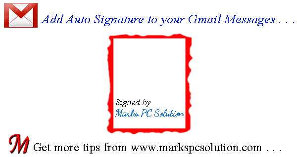 Add Gmail Signature with your mail