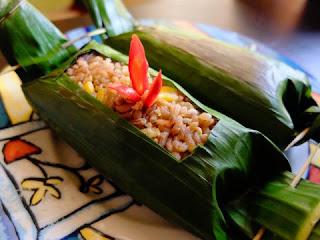 Resep Buka Puasa Nasi Merah Bakar