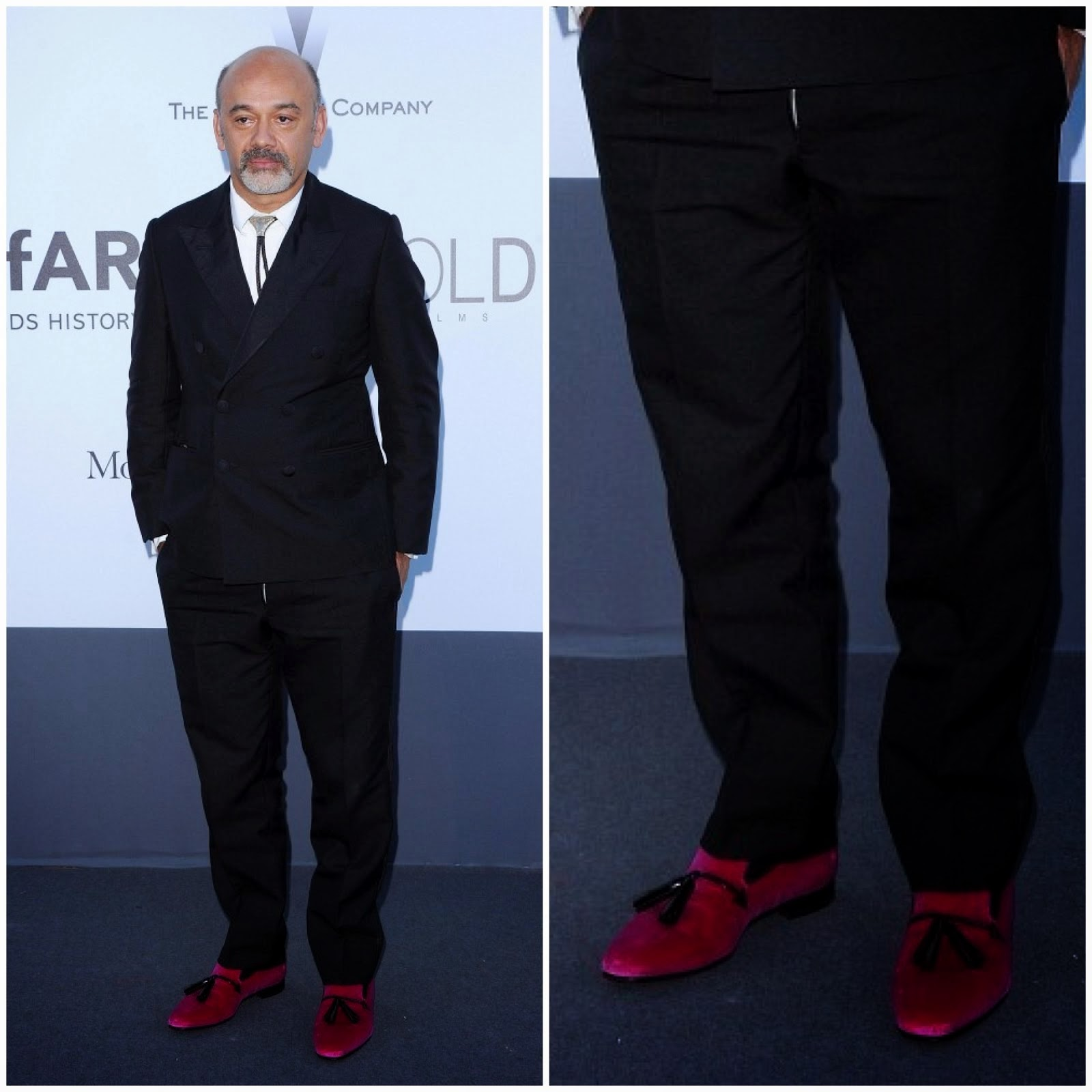 00O00 Menswear Blog: Christian Louboutin's 'Daddy' men's flat - amfAR's 20th Cinema Against AIDS Gala