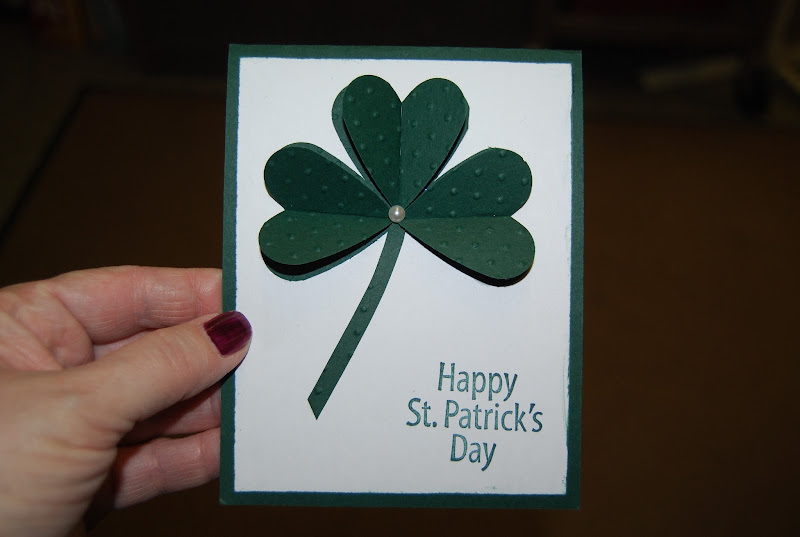 The clovers are two heart punches folded in half and placed back-to  title=