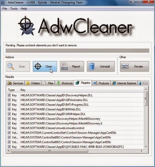 Come rimuovere Websearch.searchero.info da pagina iniziale Firefox