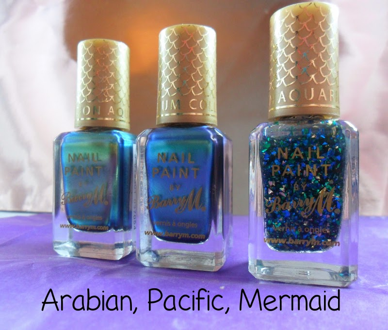 Barry M Arabian, Pacific, Mermaid Swatches