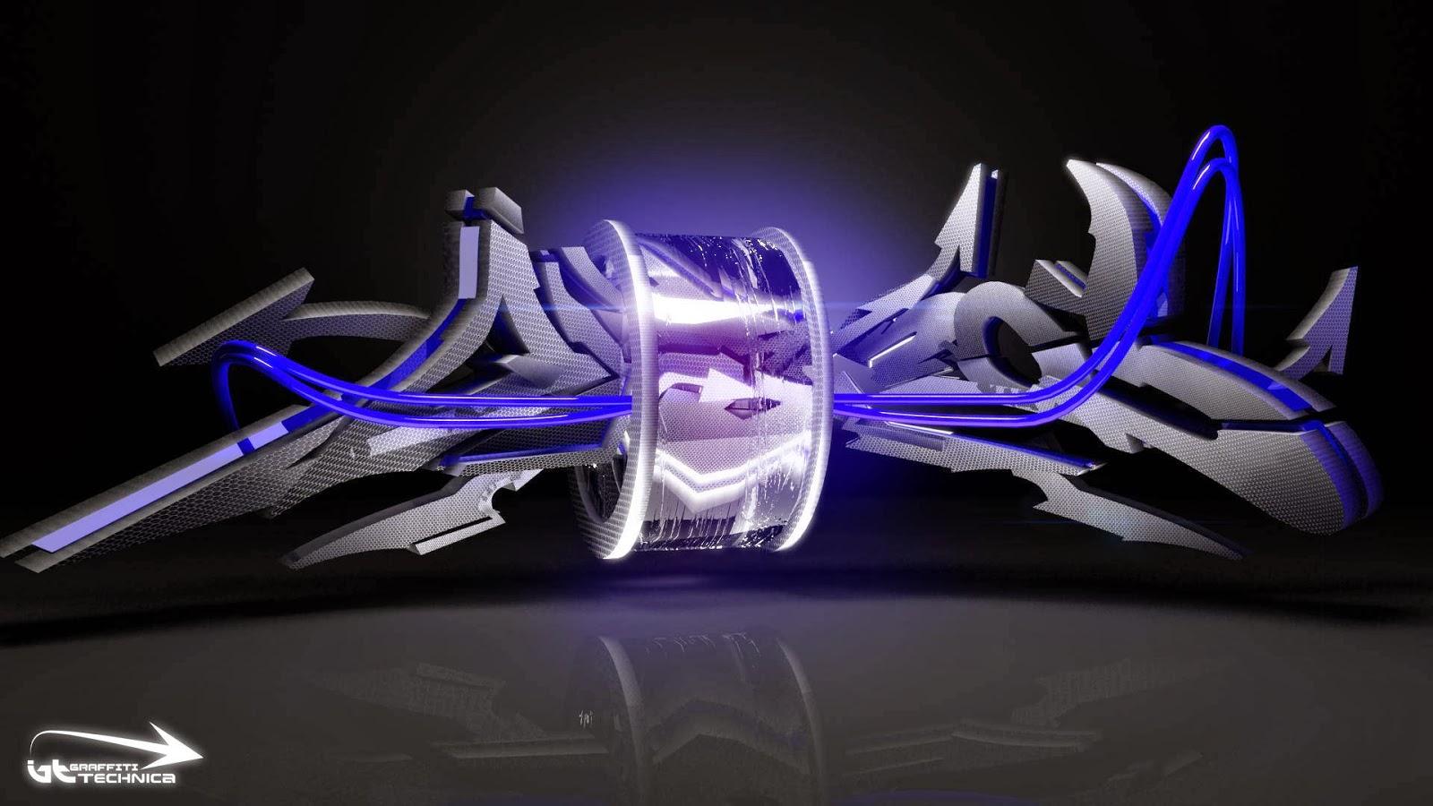 Fondo de pantalla abstracto graffiti en 3d imagenes for Immagini graffiti hd