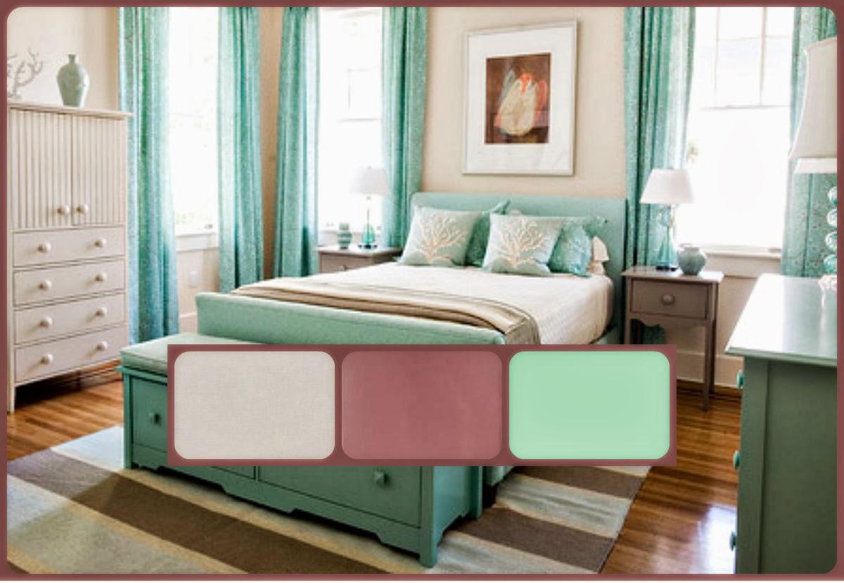 Easy Choice Home Styling  Verde Água  como a escolha  ~ Verde Fiori Quarto