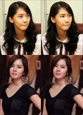Yoona SNSD dan Han Ga In Tanpa Kantung Mata