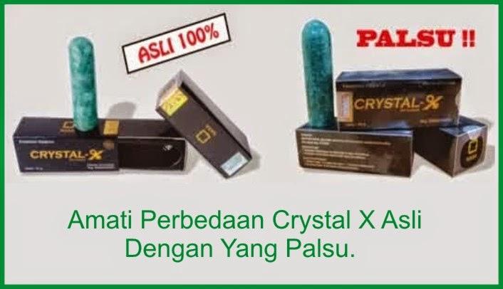 Crystal X Asli Dan Crystal X Palsu