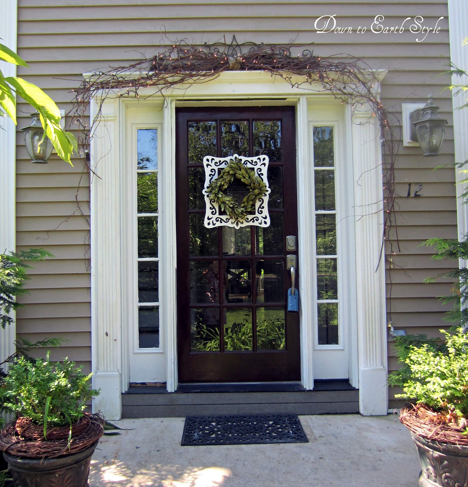 Down to earth style entry wreath frame for Entry door with frame