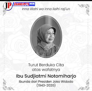 Presiden Jokowi Mohon Doa Masyarakat Untuk Almarhumah Ibunda Sudjiatmi Notomihardjo