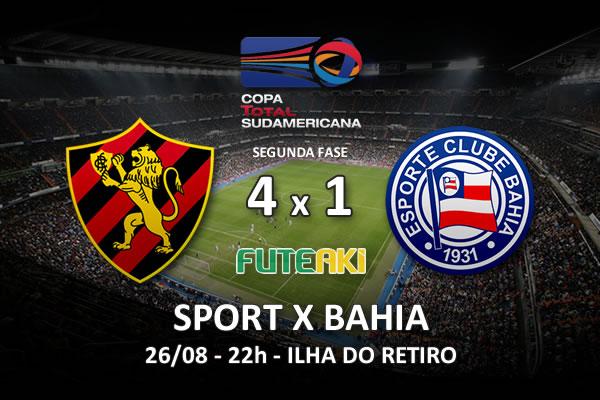 Veja o resumo da partida com os gols e os melhores momentos de Sport 4x1 Bahia pela partida de volta da segunda fase da Copa Sul-Americana 2015.