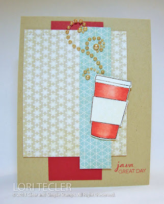 Java Great Day Card and Gift Card Holder-designed by Lori Tecler-Inking Aloud-stamps from Clear and Simple Stamps