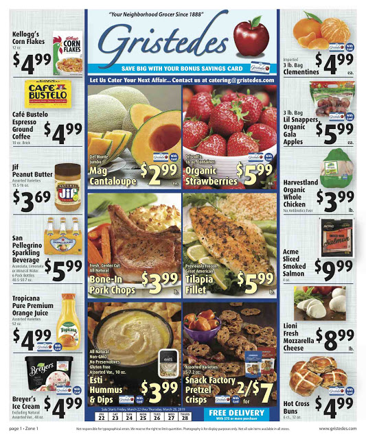 CHECK OUT ROOSEVELT ISLAND GRISTEDES Products, Sales & Specials For March 15 - March 21