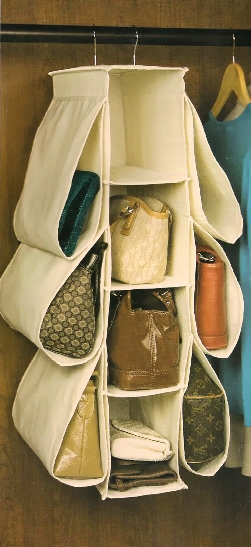 Great way to store handbags. Find this Pin and more on Bag Storage by Stylebook Closet App. Vestidor Glitter Girl: Alyssa Hertzig--photographed by Emily Johnston Anderson If your handbags are cluttering up your entryway we have 11 easy and budget-friendly handbag storage solutions.