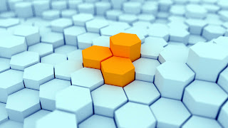 Hexagon Blocks Design 3D HD Wallpaper