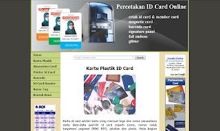 percetakan kartu plastik id card online