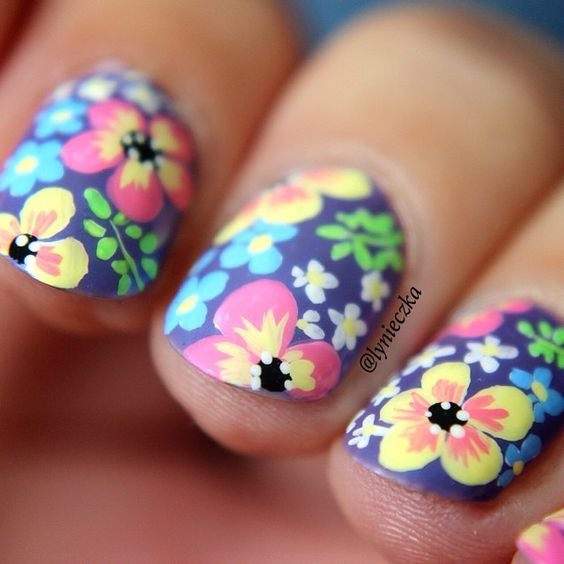 Freehand Nail Art Designs Omg Love Beauty
