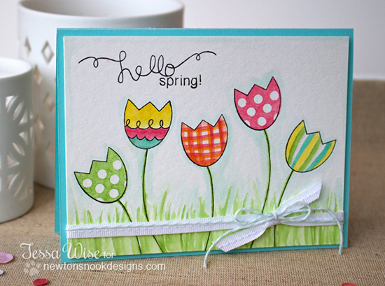 Hello Spring Card by Tessa Wise for Newton's Nook Designs - Easter Scramble