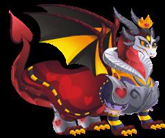 imagen del dragon reina de corazones