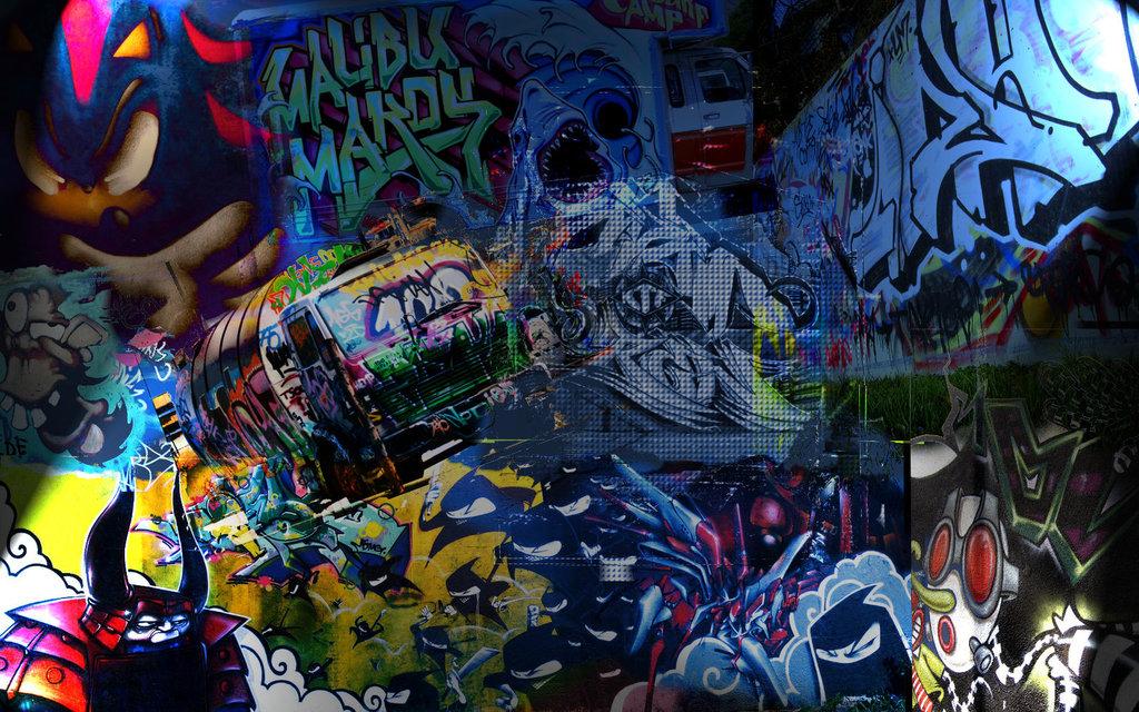 Cool Background Graffiti Hip Hop Wallpaper Desktop HD 1024 X 640
