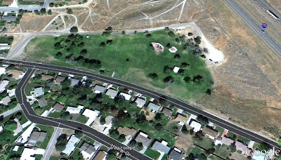 Ammon Park in Pocatello, Idaho is haunted by the spirit of a little girl.  Photo from Google Earth.