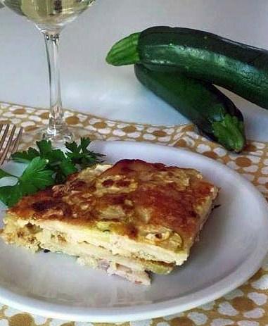 sformato di zucchine, prosciutto e mozzarella