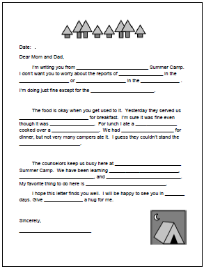 This printable fill in the blank letter is available on this post at ...