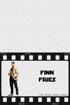 Star Wars Finn French Fries Free Printable Party Food Label