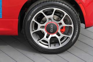 Fiat 500 car tyres/wheel - صور اطارات سيارة فيات 500