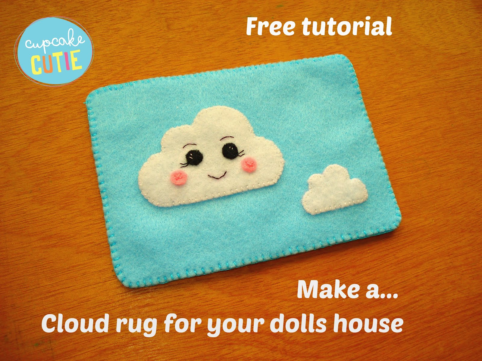 Free tutorial: Dolls house cloud rug