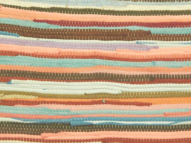 woven colorful rug