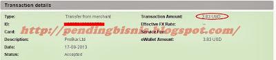 Bukti Pembayaran Pertama dari PTC Probux