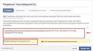 cara membuat Alamat Halaman Fanspage FaceBook