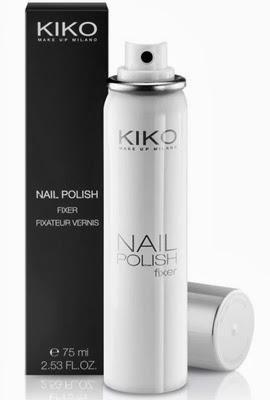 espray fijador de esmalte de uñas de Kiko Nail Polish Fixer