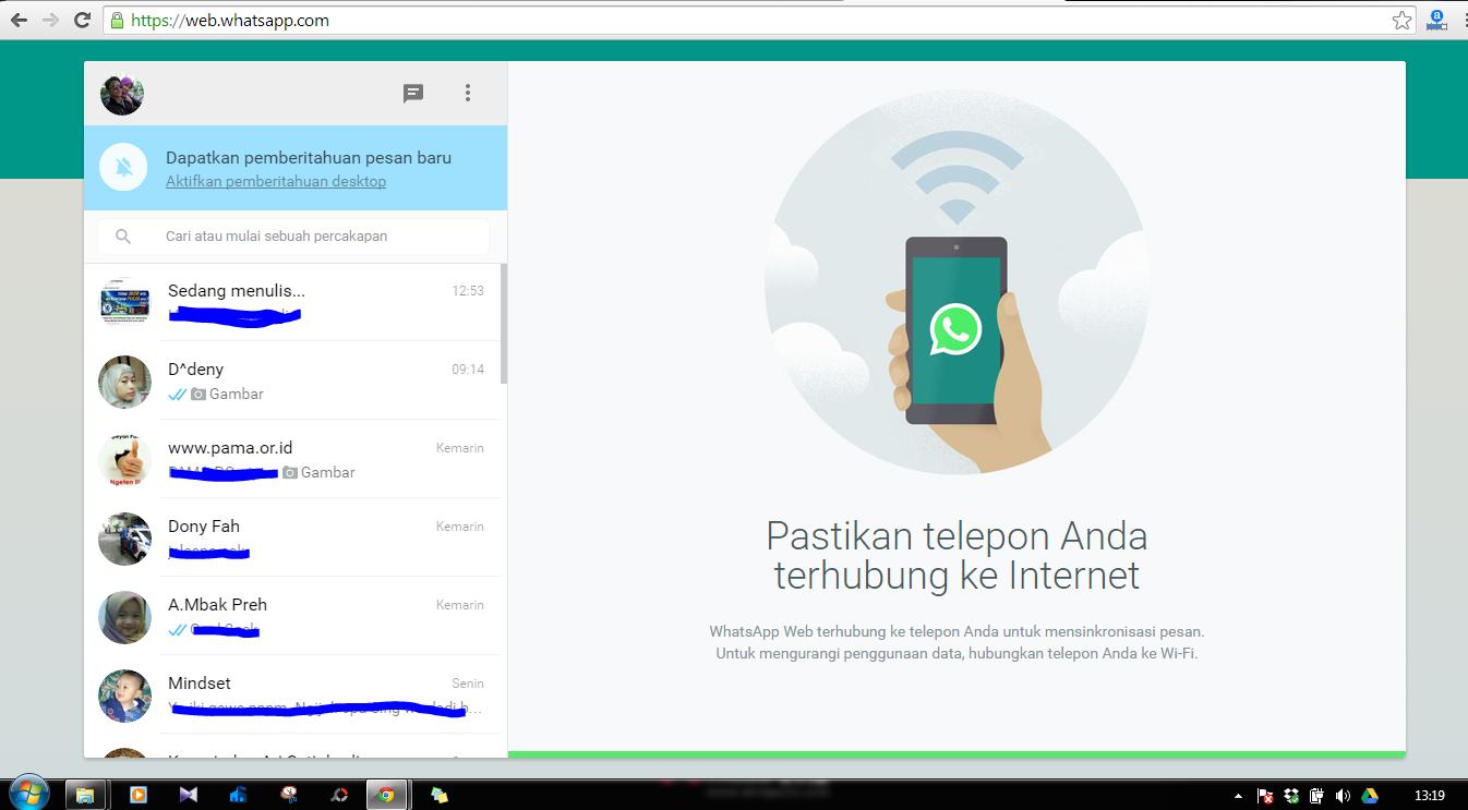 Cara Mengoperasikan WhatsApp di Komputer