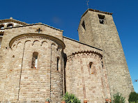 Detall dels absis i la torre campanar de Sant Feliuet