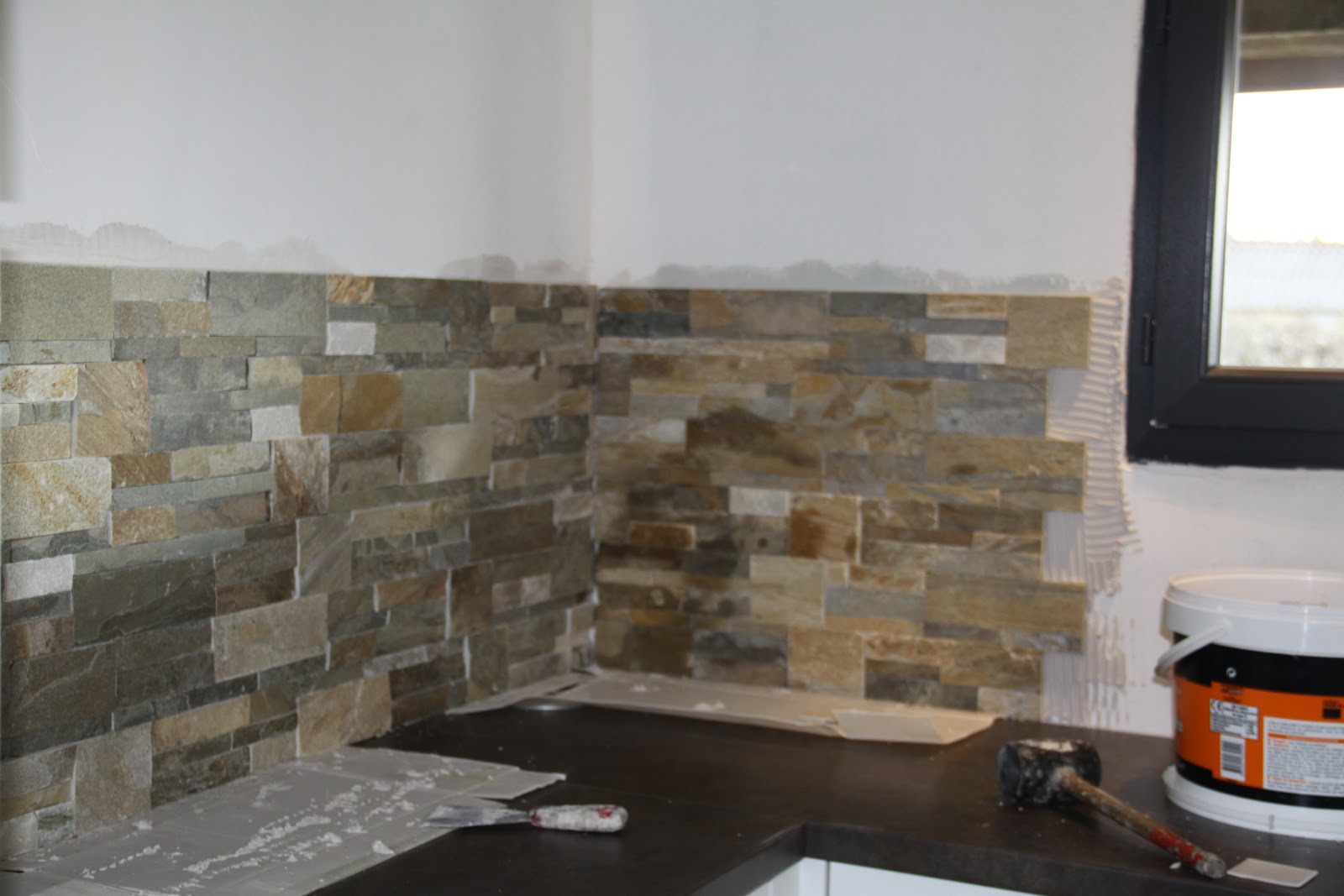 Projet maison ossature bois for Leroy merlin credence murale