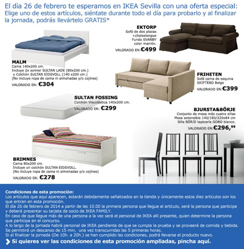 Solo hoy muebles gratis en el ikea de sevilla las - Ikea sevilla ofertas ...