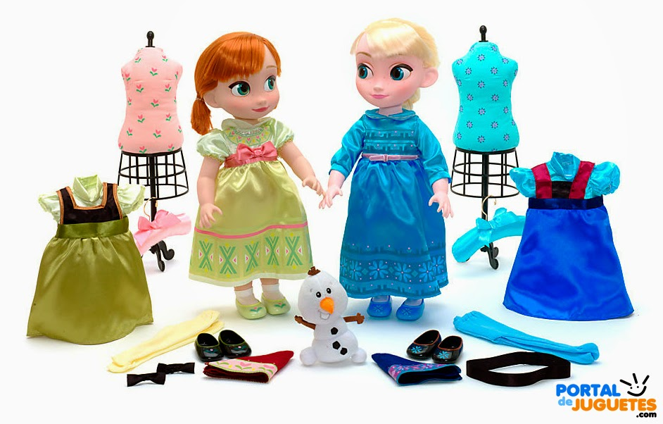 set coleccion elsa anna disney animators
