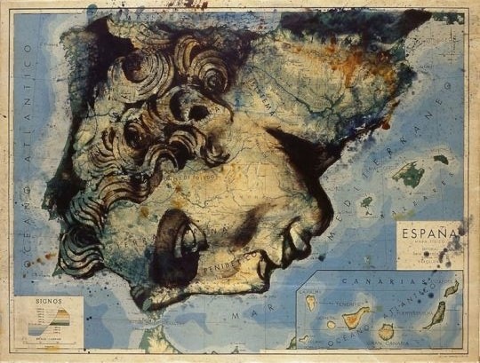 древняя карта Испании