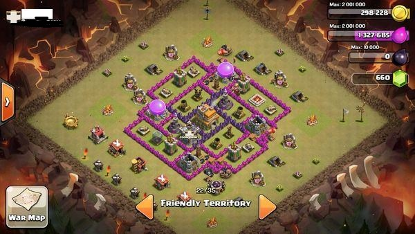 Th7 War Base Clash Of Clans