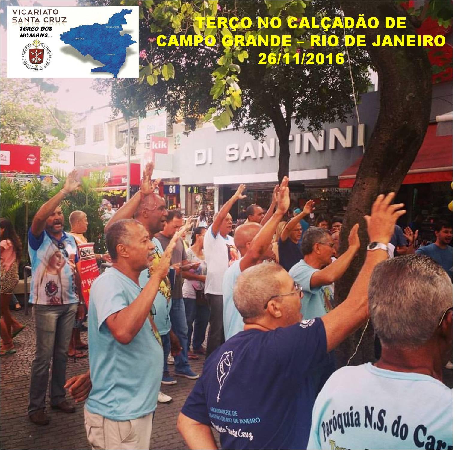 TERÇO NO CALÇADÃO DE CAMPO GRANDE - RIO DE JANEIRO - 26/11/2016