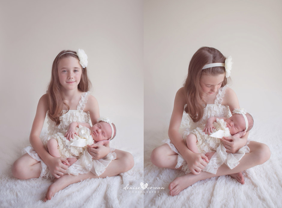 newborn baby and big sister Katy, Tx photography