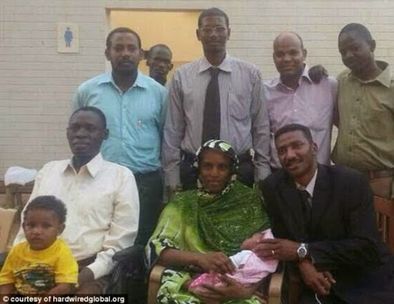First photo of Sudanese woman after her release yesterday
