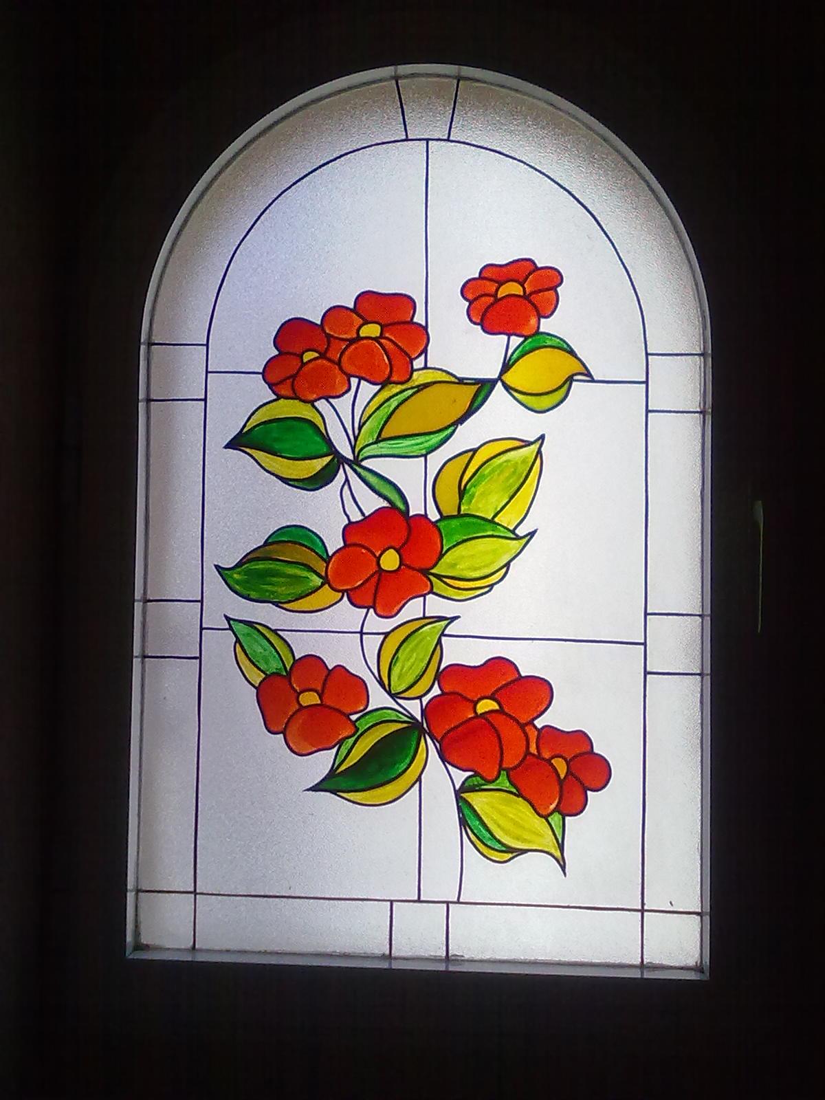 Telitas de colores vidrieras - Como hacer una vidriera ...