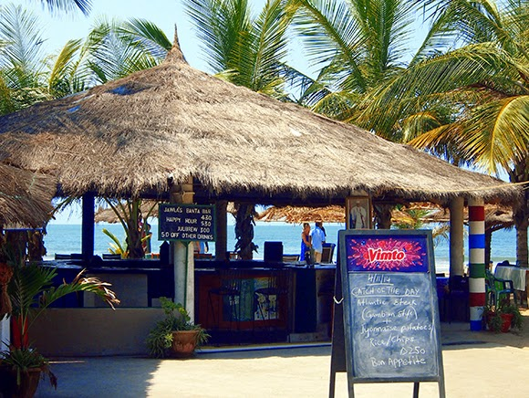 beach bar gambia